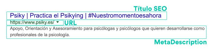 snippet google posicionamiento seo psicólogos