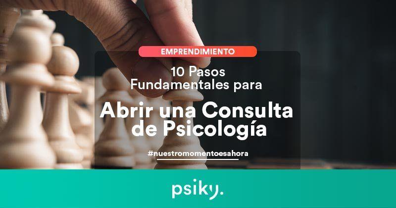 abrir consulta psicología España