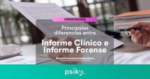 qué diferencias hay entre un informe clínico y un informe psicológico forense