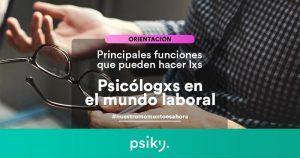 ¿Qué hace un psicólogo dependiendo del área de trabajo?